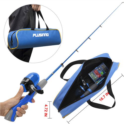 PLUSINNO ED-Kids Blue Fishing Pole with Bag
