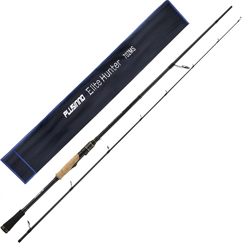 PLUSINNO Elite Hunter 7FT Fishing Rod-Spinng rod (Gold )