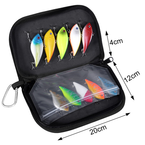 PLUSINNO Fishing Lures for Bass, 10pcs Hard Bait with Bag