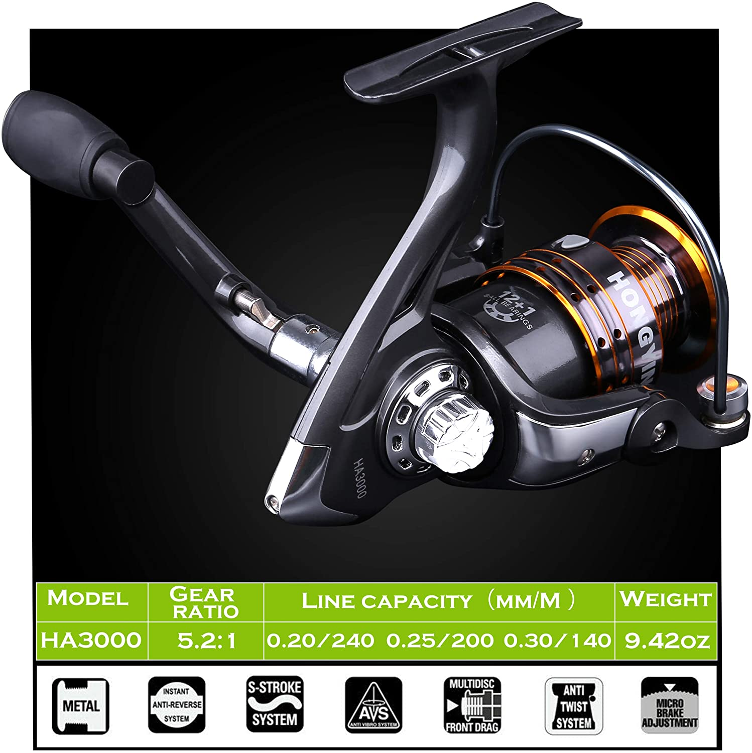 PLUSINNO Fishing Rod and Reel Combos P-VI