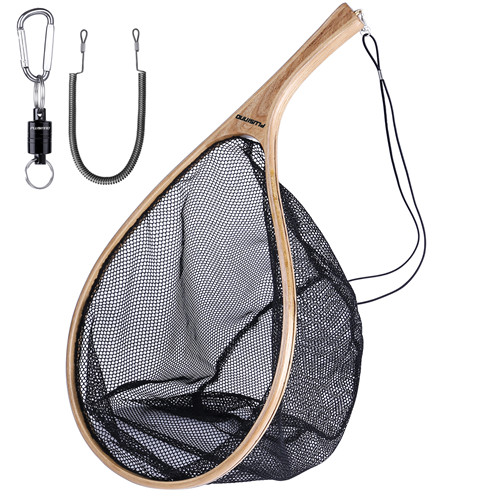 PLUSINNO Fly Fishing Net With Magnetic Release-Curved handle